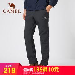 骆驼户外2018年秋季新款冲锋裤男女防水保暖登山裤加绒加厚软壳裤