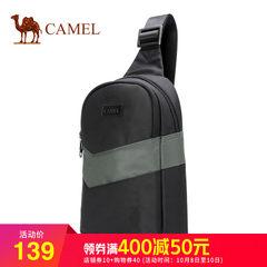 骆驼正品男士胸包时尚休闲简约单肩斜挎包拼接个性包包2018新款潮