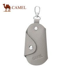骆驼牛皮锁匙包男士商务休闲腰挂汽车简约钥匙袋便携包包2018新款