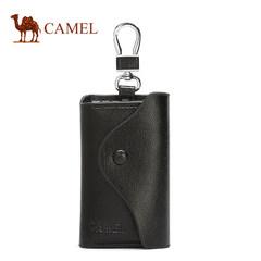 駱駝正品男士鑰匙扣包牛皮時尚休閑汽車鎖匙包簡約腰掛多功能卡包