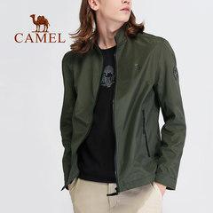 2018新款骆驼户外男款防风保暖舒适休闲运动立领拉链开衫夹克外套