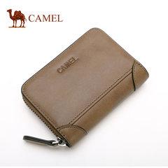 骆驼正品男士卡包横款复古简约牛皮信用卡夹卡套多卡位大容量钱包