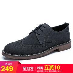 骆驼男鞋2018秋季潮流韩版英伦牛津鞋男牛皮休闲鞋雕花布洛克皮鞋
