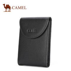 骆驼男士长款卡包银行信用卡夹卡套多卡位大容量牛皮竖款钱包潮流