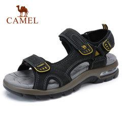骆驼男凉鞋 2018夏季新款男士AIR减震气垫牛皮凉鞋 休闲沙滩鞋男