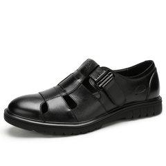 骆驼男鞋 2018夏季新品商务休闲包头凉鞋真皮透气皮凉鞋男爸爸鞋