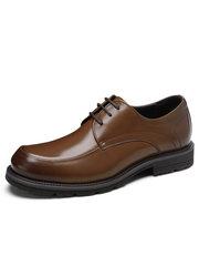 駱駝男鞋2018秋季新款男士商務正裝皮鞋系帶低幫潮流皮鞋男德比鞋