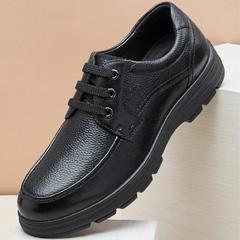 骆驼男鞋2018秋季新款皮鞋男系带商务休闲皮鞋真皮国民男鞋爸爸鞋