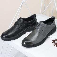 骆驼男鞋2018秋季新款休闲皮鞋时尚鞋子男潮鞋系带真皮男士休闲鞋