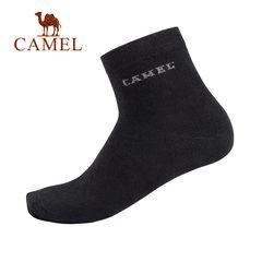Camel/骆驼骆驼家居 2018年秋季新款时尚简约创意字母 中长袜男