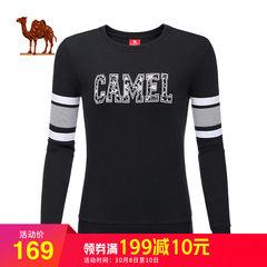骆驼户外 2018新款宽松圆领套头卫衣女 秋季休闲上衣长袖运动服女