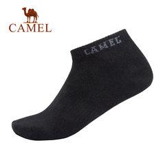 Camel/骆驼骆驼家居 2018年秋季新款时尚黑色创意字母 休闲袜子男
