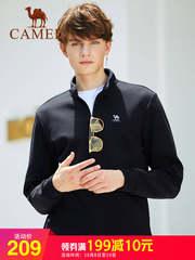 骆驼男装2018秋冬新款韩版简约时尚宽松外套长袖高领套头卫衣男