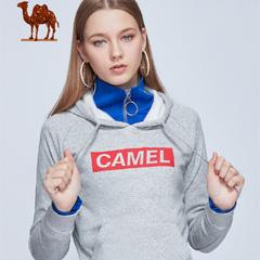 骆驼卫衣女连帽套头衫秋冬2018新款运动上衣长袖修身休闲外套男