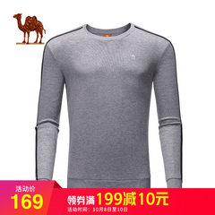 骆驼户外 2018秋季新款宽松卫衣圆领套头 男款韩版休闲服运动长袖