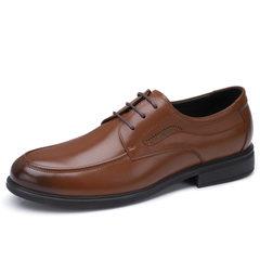 骆驼男鞋 2018新款男士正装皮鞋牛皮商务办公皮鞋系带真皮皮鞋