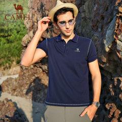 CAMEL骆驼男装T恤 春夏休闲轻薄透气排汗时尚运动立领短袖T恤男