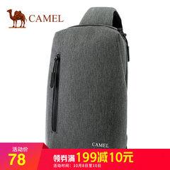 骆驼正品男士胸包韩版时尚休闲单肩斜挎包帆布胸前包包2018新款潮