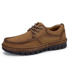 骆驼男鞋  2018秋季新品中青年休闲牛皮鞋日常户外旅游防滑耐磨鞋