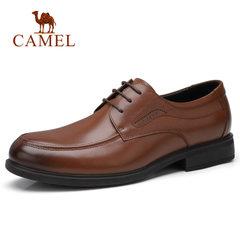 Camel/骆驼男鞋 2018新款男士正装皮鞋商务办公皮鞋系带真皮皮鞋
