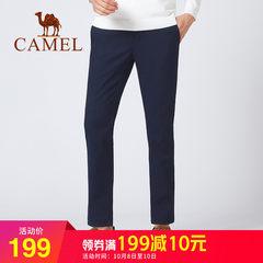 骆驼男士裤子秋冬季新款2018休闲裤男宽松直筒商务休闲加绒长裤