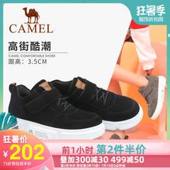 骆驼2019春季单鞋女魔术贴板鞋网红女鞋休闲厚底运动潮复古鞋子