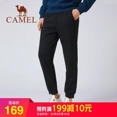 骆驼运动裤男宽松束脚卫裤2018新款休闲裤加绒加厚情侣裤长裤