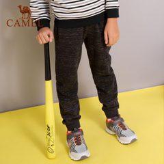 【2018新款】骆驼童装男童卫裤儿童运动裤束口长裤女童秋冬保暖裤