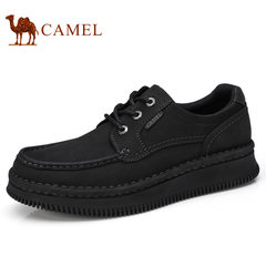 Camel骆驼男鞋 秋季手工缝磨砂软牛皮防滑日常休闲鞋男