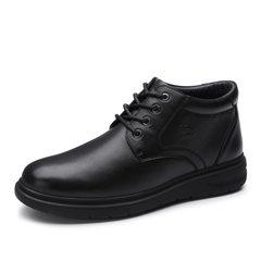 骆驼男鞋      2018秋冬新款商务皮靴加绒保暖短筒牛皮靴休闲皮鞋