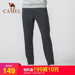 骆驼男装 2018男女情侣款运动休闲针织裤 户外加绒防寒保暖长裤子