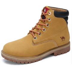 骆驼户外休闲鞋男工装鞋靴2018新款男女牛皮高帮潮马丁靴大黄靴子