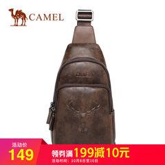 骆驼正品男士胸包新款休闲时尚单肩斜挎拉链背包韩版潮流胸前包包