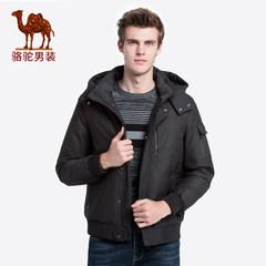 骆驼男装 2018秋冬新款男士加厚保暖外套韩版短款可脱卸帽羽绒服