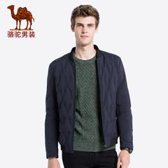 骆驼男装 2018秋冬新款白鸭绒短款羽绒服男士韩版棒球领保暖外套
