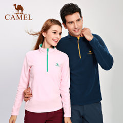 CAMEL骆驼户外抓绒衣男女 摇粒绒外套半开衫卫衣冲锋衣内胆抓绒衣