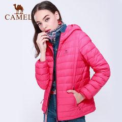駱駝運動休閑羽絨服男女短款冬季棉輕薄保暖防風耐磨舒適連帽外套