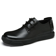 骆驼男鞋 秋季商务简约休闲鞋耐磨防滑牛皮系带低帮舒适皮鞋男