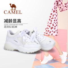CAMEL骆驼运动休闲鞋女鞋秋季ins超火潮流舒适厚底增高老爹小白鞋