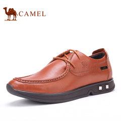 Camel/骆驼男鞋 夏季商务休闲鞋纯色系带男鞋耐磨