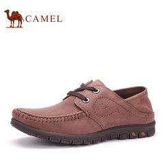 Camel/骆驼骆驼男鞋 秋季新款日常休闲磨砂纯色系带圆头男皮鞋