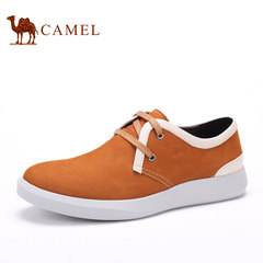Camel/骆驼男鞋日常休闲皮鞋磨砂皮男鞋夏季男士圆头系带鞋子耐磨
