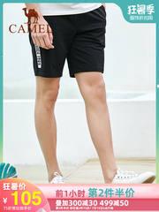 骆驼男装运动短裤男2019夏季新款韩版潮针织裤子男五分休闲短裤男