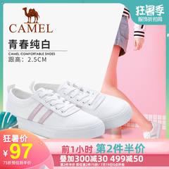骆驼女鞋2019春夏新款休闲chic街拍学生透气小白鞋帆布鞋女板鞋子