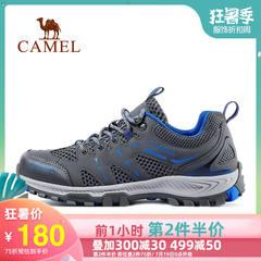 骆驼2019新款户外登山鞋运动跑步男女夏季透气轻便低帮徒步鞋网鞋
