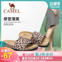 骆驼女鞋2019新款夏季平底凉拖女网红凉鞋女外穿时尚百搭凉拖鞋女