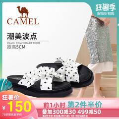 Camel/骆驼2019夏季新款 波点心弦 娇俏淑女 凉拖女