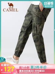 骆驼迷彩工装裤男裤夏季薄款2019新款韩版潮流长裤束脚运动休闲裤