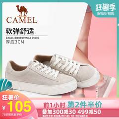 骆驼女鞋2019新款百搭韩版板鞋时尚鞋头校园风网红女鞋休闲鞋
