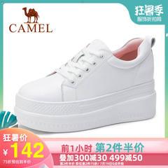 骆驼女鞋2019秋季新品小白鞋女板鞋松糕厚底休闲单鞋厚底运动鞋